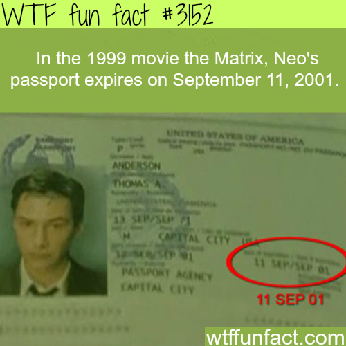 Neo's passport in the movie The Matrix -  WTF fun facts