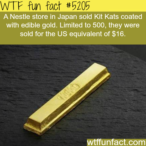 Nestle store in Japan sold Gold coated Kit Kats - WTF fun facts
