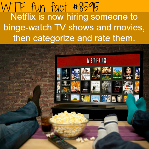 Netflix hiring people to binge-watch TV shows - WTF fun facts