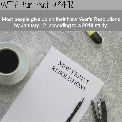 New Year's Resolutions - WTF fun fact
