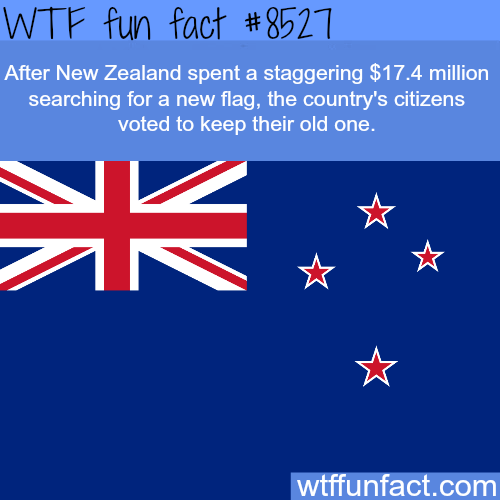 New Zealand spent $17 million to get a new flag and this is what happens - WTF fun facts