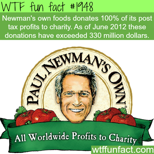 Newman's own foods -WTF fun facts