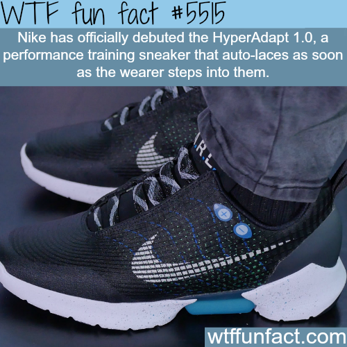 Nike's HyperAdapt 1.0 - WTF fun facts