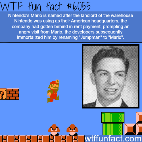 Nintendo's Mario is named after a real person - WTF fun facts