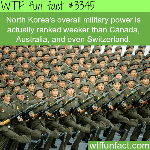 North Korea's Military power -  WTF fun facts