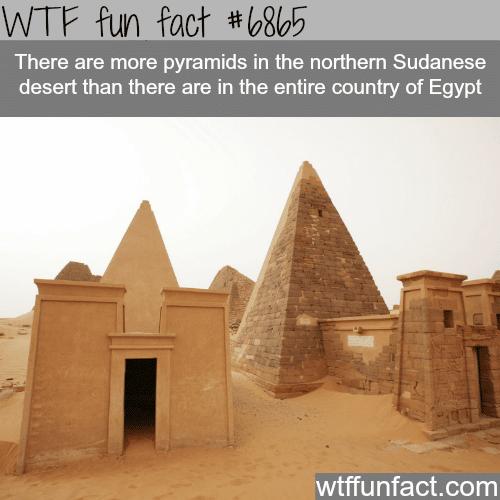 Nubian Pyramids - WTF fun fact