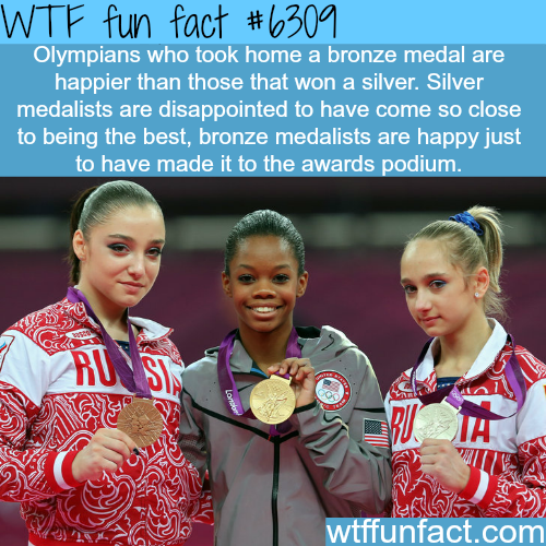 Olympians who win bronze are happier than silver medal winners - WTF fun facts