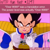 over 9000 is a translation error