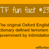 oxford dictionary the definition of terrorism