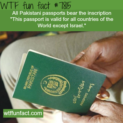Pakistani Passport - WTF fun facts