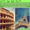 paris and rome wtf fun fact