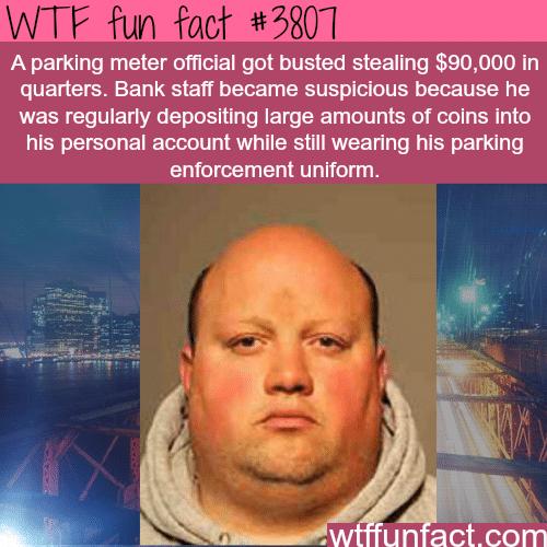 Parking meter officer steals $90