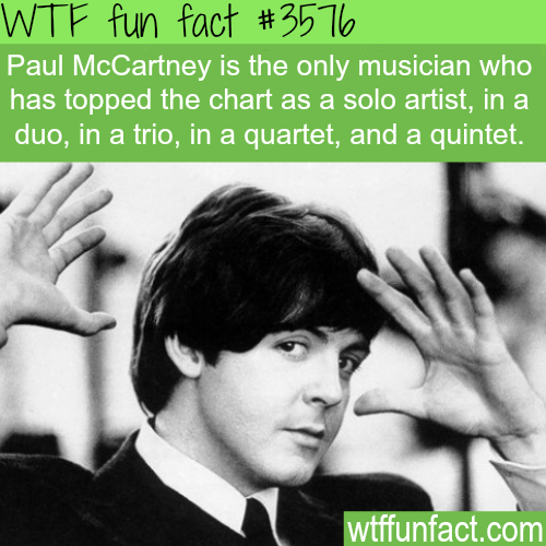 Paul McCartney facts -  WTF fun facts