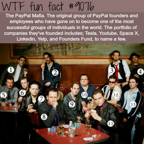 paypal mafia - WTF fun facts