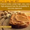 peanut butter can turn into diamond