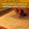 pencil writing wtf fun facts