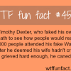 people who faked their death timothy dexter