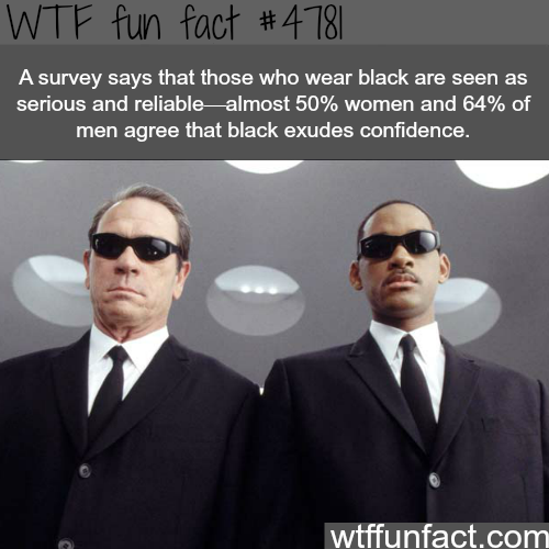 People who wear black - WTF fun facts