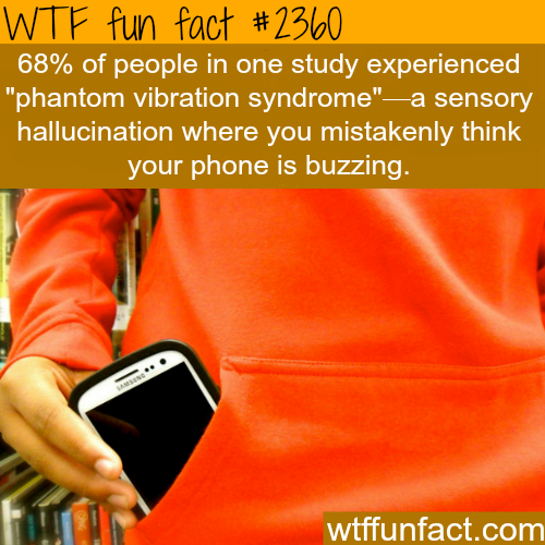 """Phantom Vibration Syndrome"" Most of you have it - WTF fun facts"