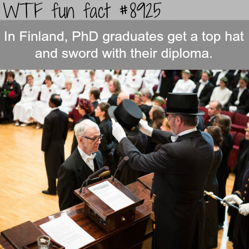 PhD graduates in Finland get a sword and diploma - WTF fun facts