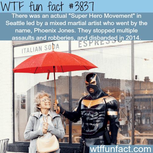 Phoenix Jones is a real super hero in Seattle - WTF fun facts