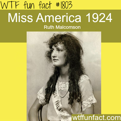 Picture of Miss America in the Year 1924 -WTF fun facts