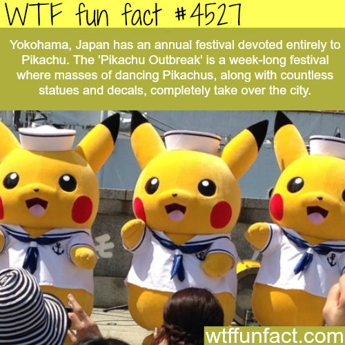 Pikachu Outbreak in Japan -   WTF fun facts
