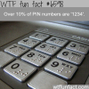 pin numbers wtf fun facts