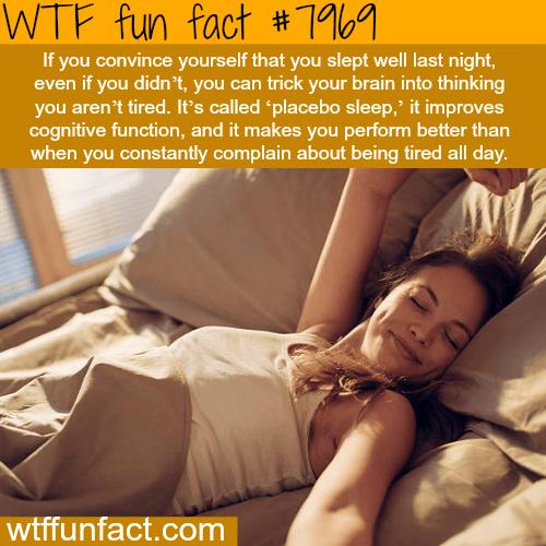Placebo sleep - WTF fun fact