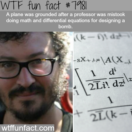 Plane grounded because a professor was doing math - WTF fun fact