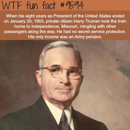 President Harry Trueman - WTF fun fact