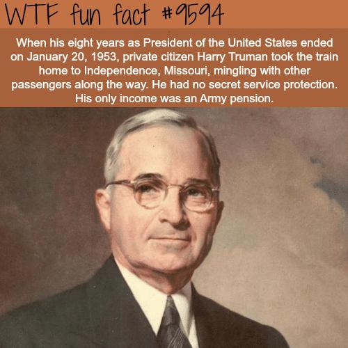 President Harry Trueman - WTF fun fact