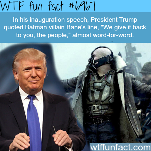 President Trump inauguration speech - WTF fun fact