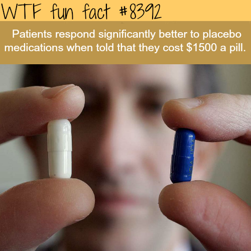 Price can affect how react to medications - WTF fun facts