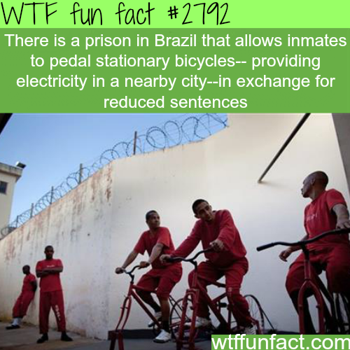 Prison in Brazil that provides electricity to the community -WTF fun facts