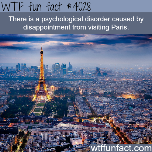 Psychological disorder that is caused by disappointing visit to Paris - WTF fun facts