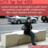 public bench that repels graffiti