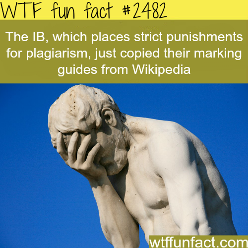 Punishments for plagiarism - WTF fun facts