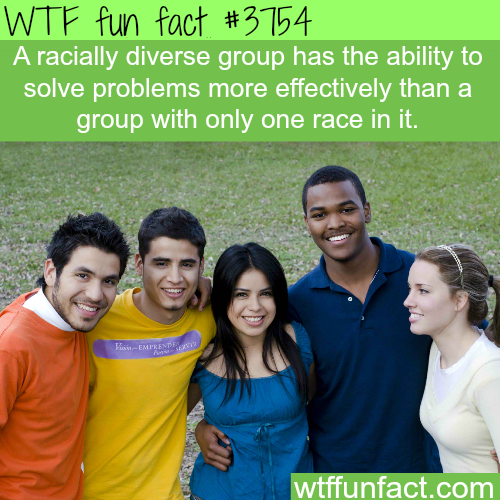 Racial diversity facts - WTF fun facts