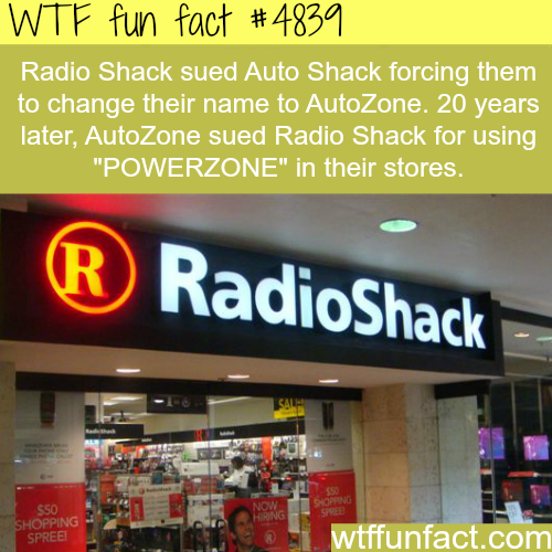 Radio Shack facts - WTF fun facts