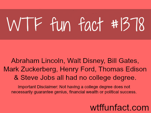 Rich and famous people who don't have college degree
