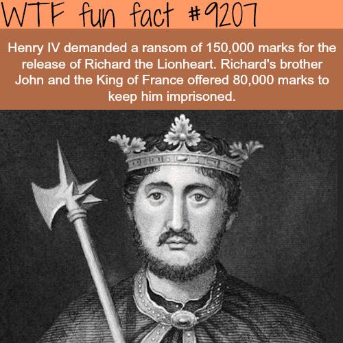 Richard the Lionheart - WTF Fun Fact
