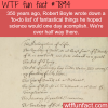 robert boyles to do list wtf fun facts