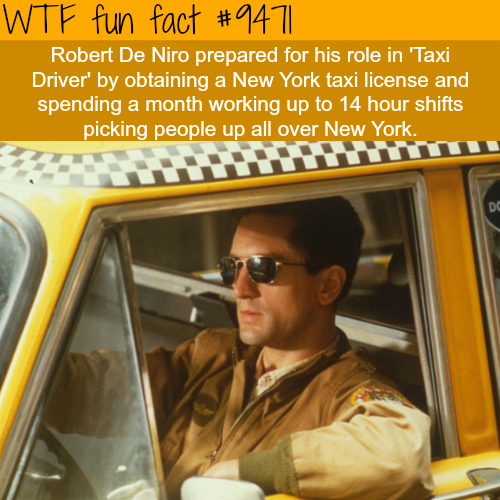 Robert De Niro in Taxi Driver - WTF fun fact