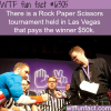 rock paper scissors tournament wtf fun facts