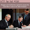 ronald reagan agreed to stop the cold war if