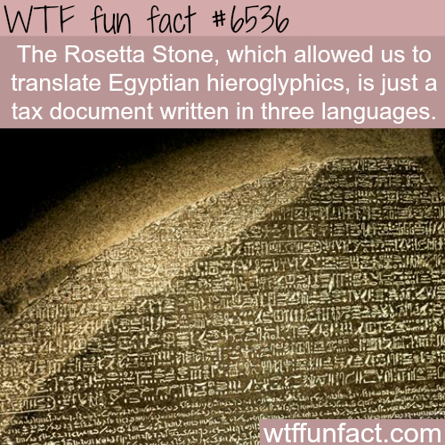 Rosetta stone - WTF fun facts