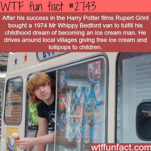 Rupert Grint Ice Cream Van