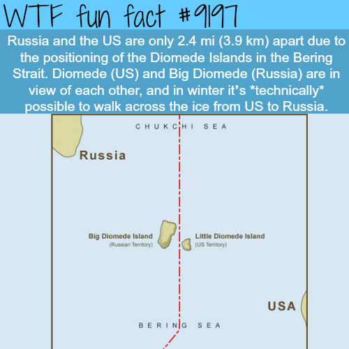 Russia and the U.S. closest point - WTF Fun Facts