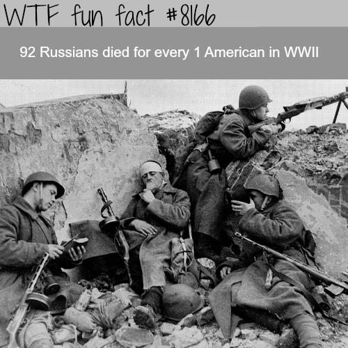 Russian casualties in WW2 - WTF fun fact